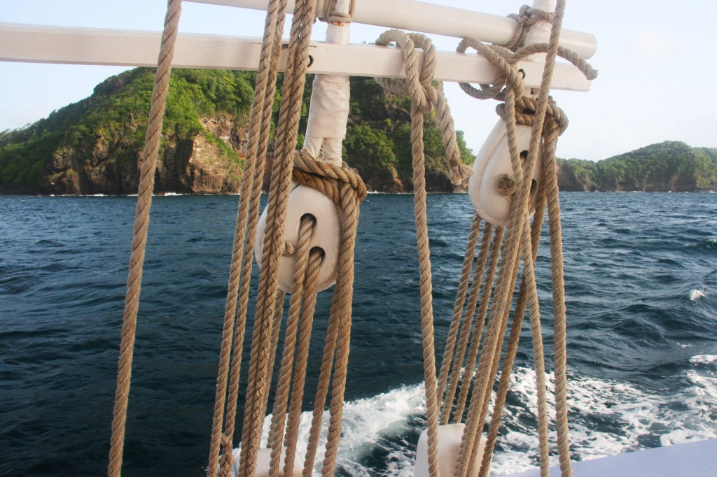 The Friendship Rose is all wood, canvas and rope. A sailing trip into the past.