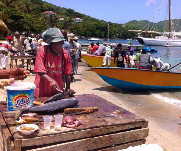 Fisherman's Day. Everyone on the island comes out to celebrate.